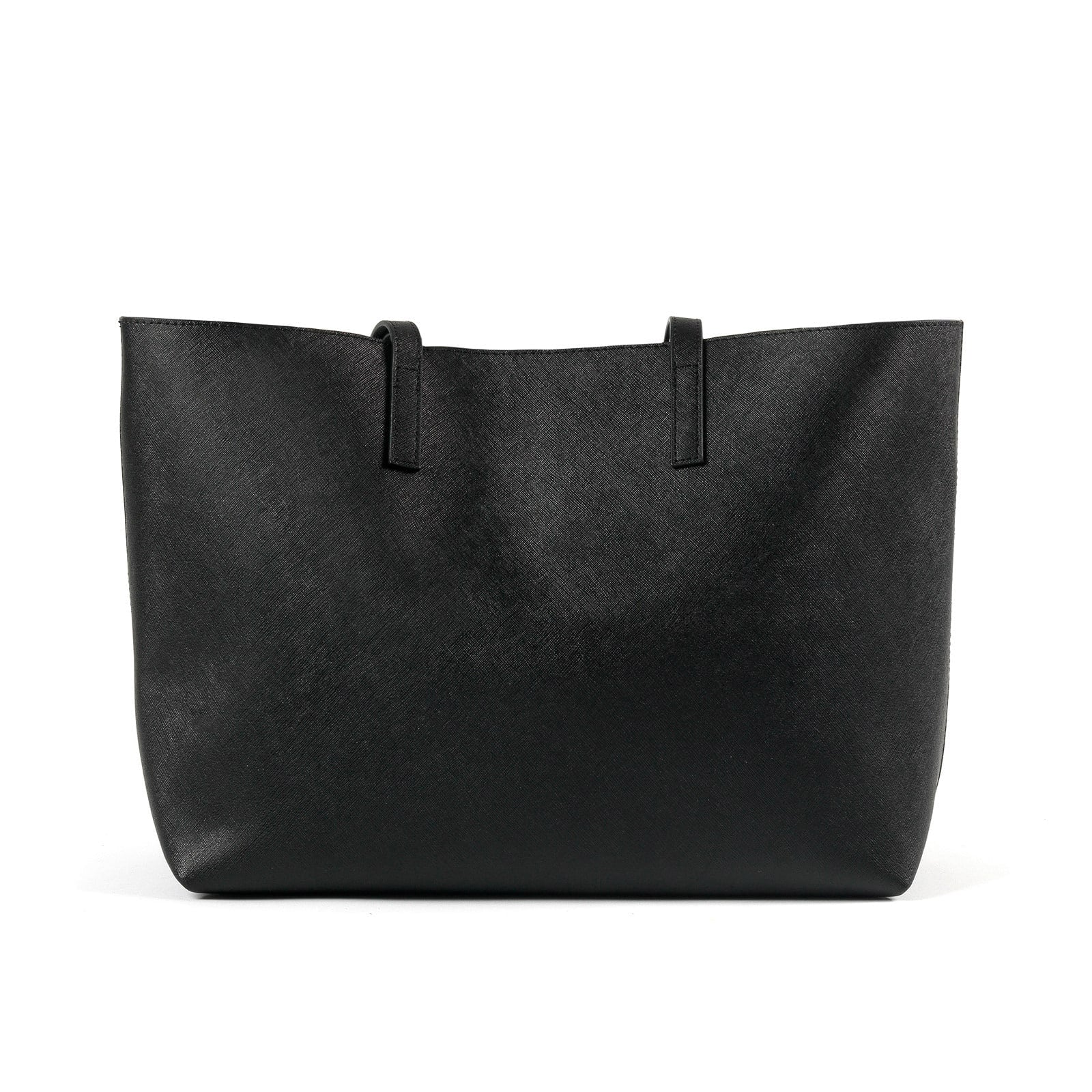Blank Personalised Black Saffiano Leather Tote