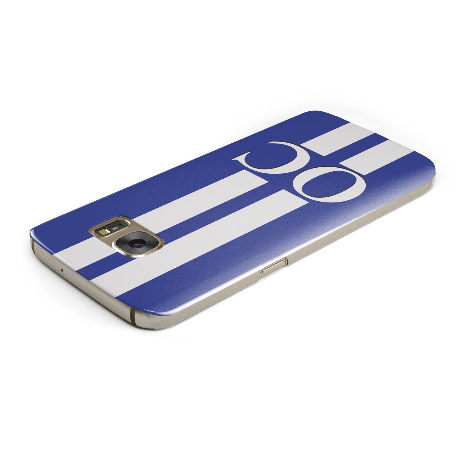 Blue Personalised Initials Samsung Galaxy Case Top Cutout