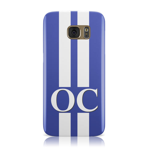 Blue Personalised Initials Samsung Galaxy Case
