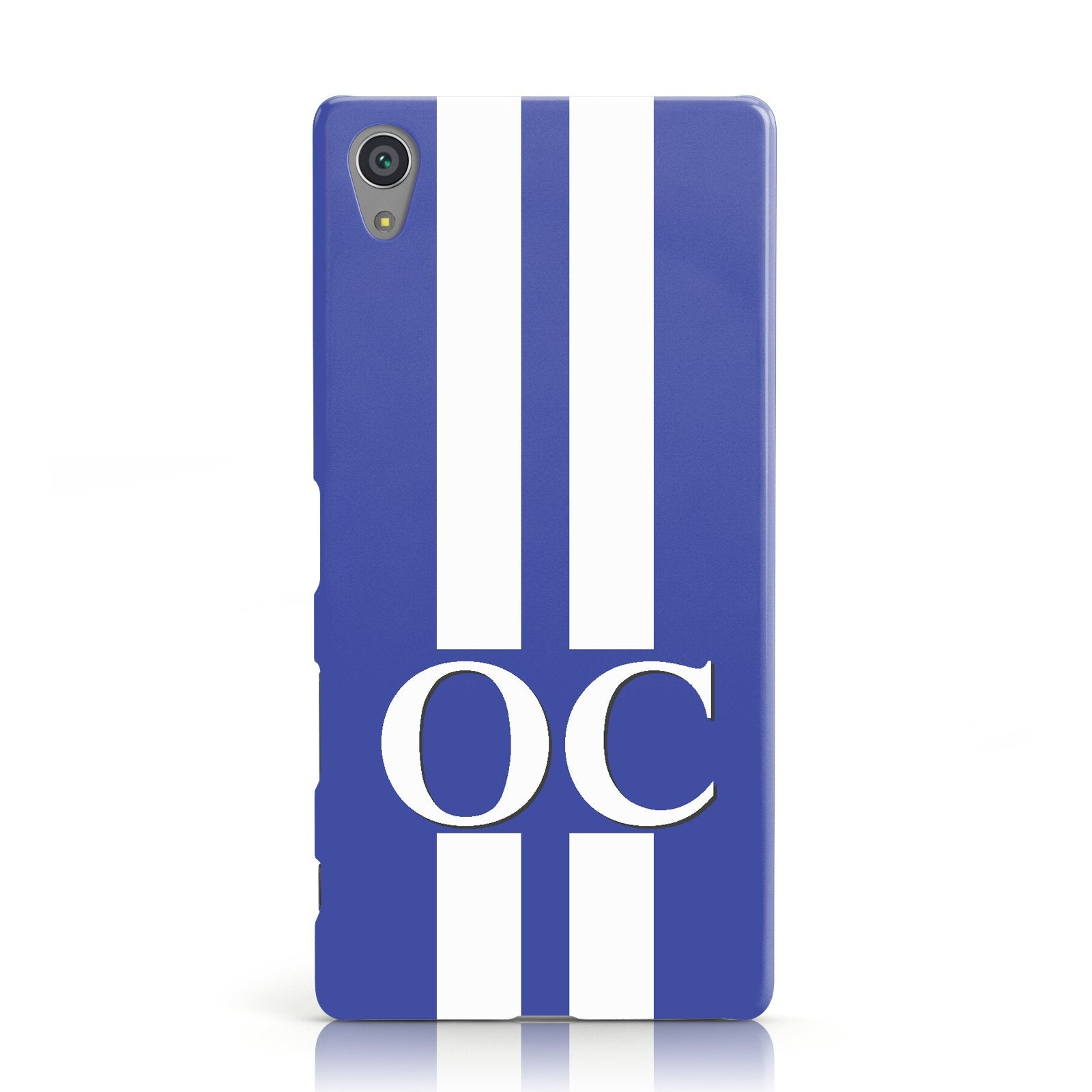 Blue Personalised Initials Sony Xperia Case