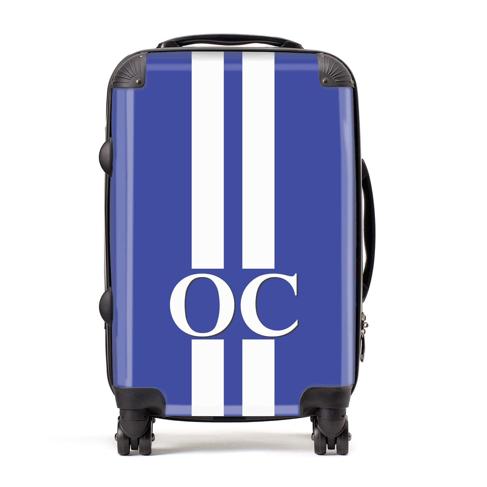 Blue Personalised Initials Suitcase
