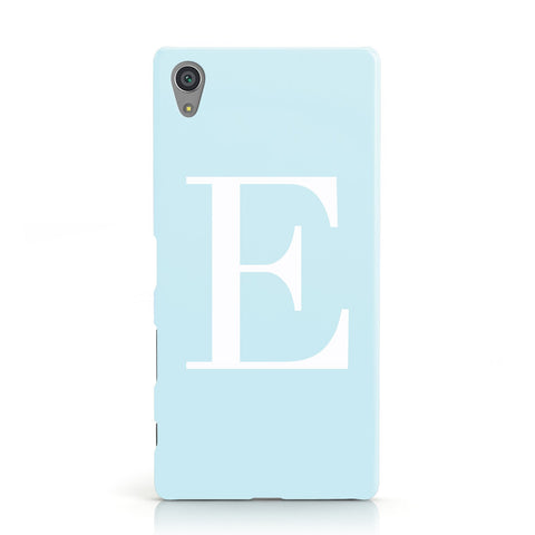 Personalised Blue & White Pastel Initials Sony Xperia Case