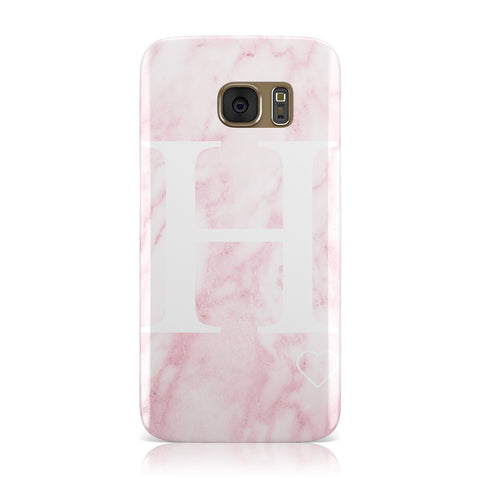 Blush Marble Custom Initial Personalised Samsung Galaxy Case
