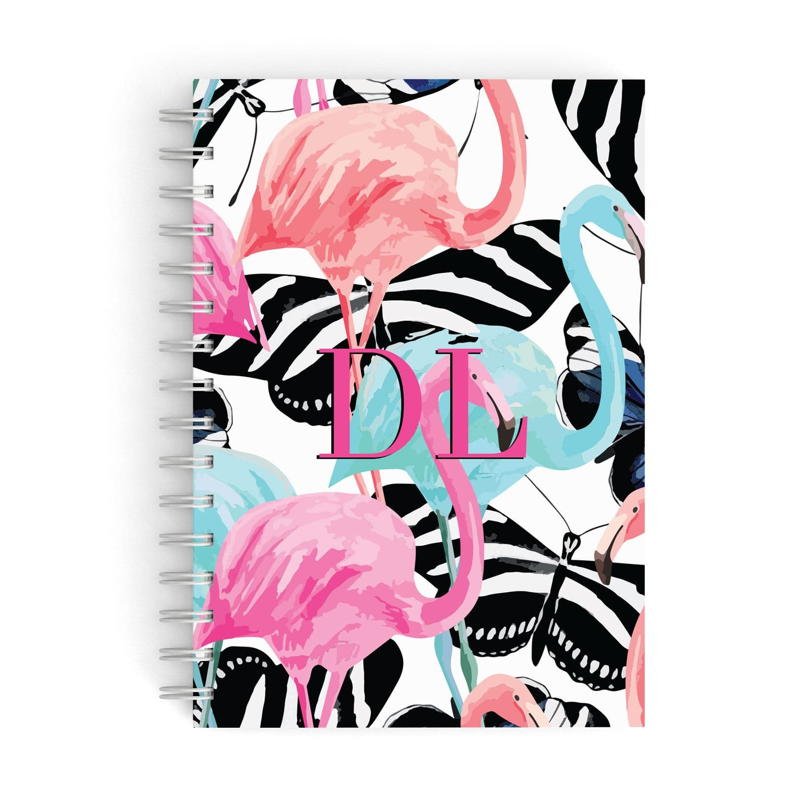 Butterflies & Flamingos A5 Hardcover Notebook
