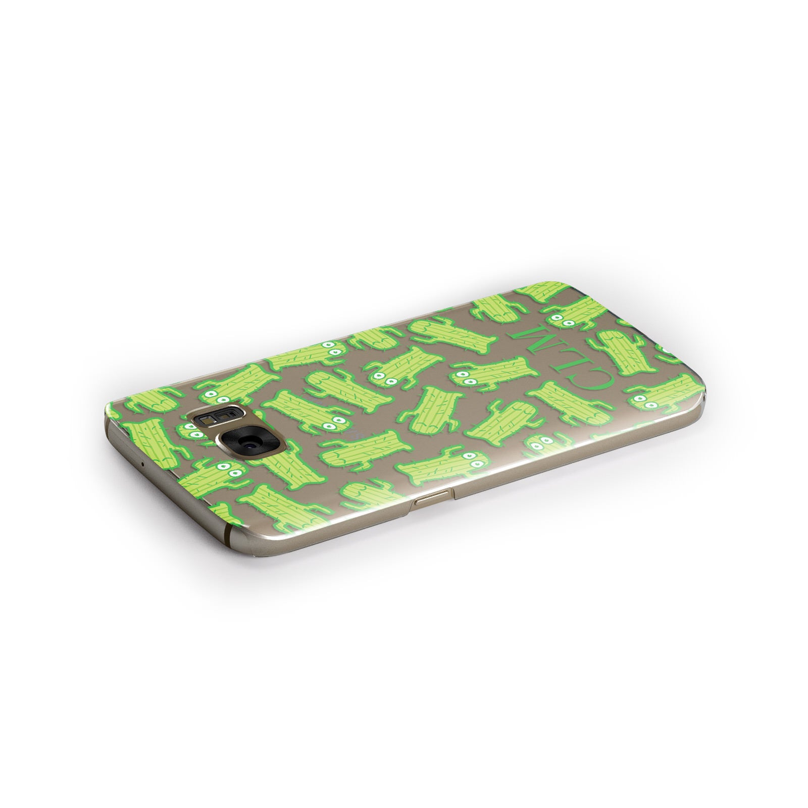 Personalised Cactus Initials Samsung Galaxy Case Side Close Up