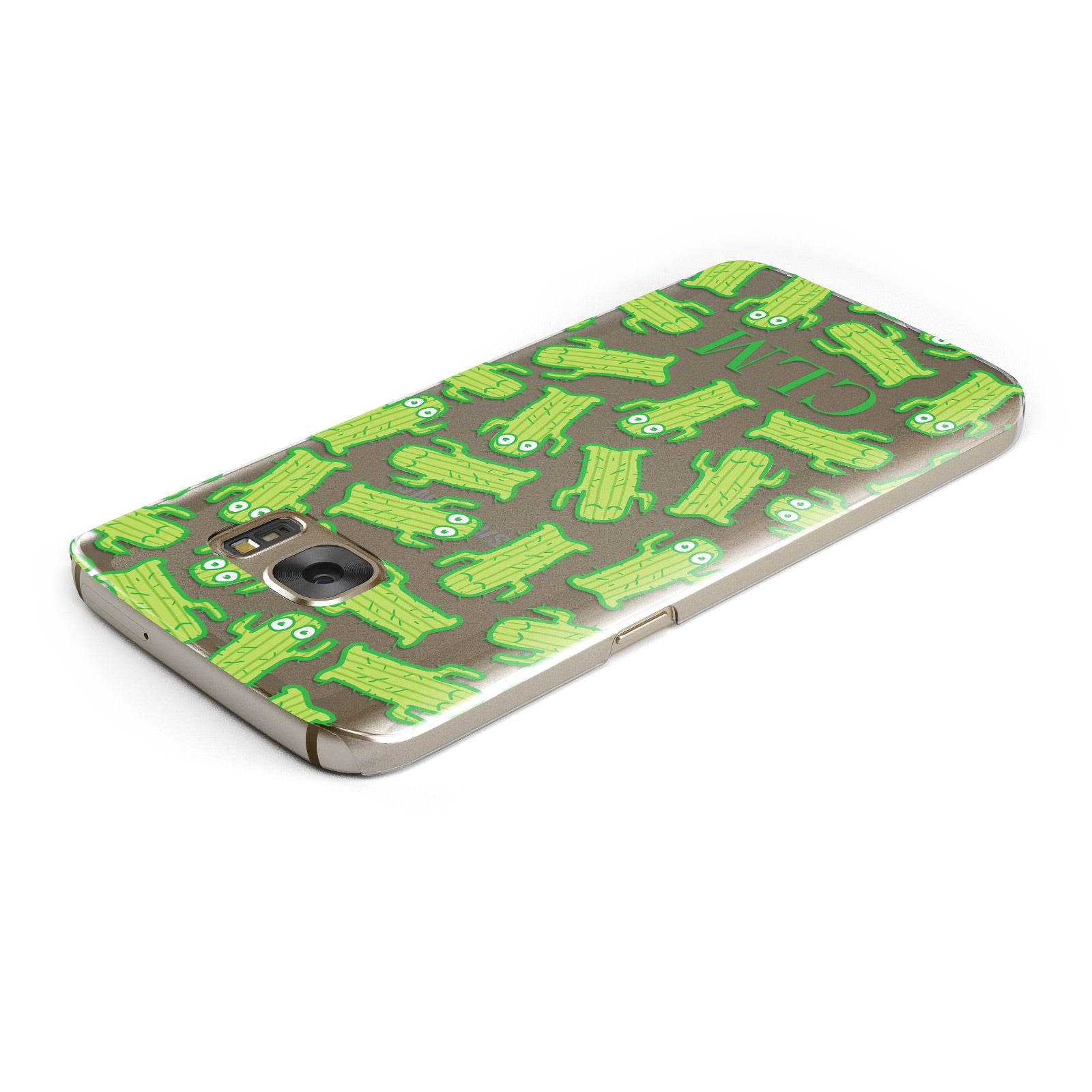 Personalised Cactus Initials Samsung Galaxy Case Top Cutout
