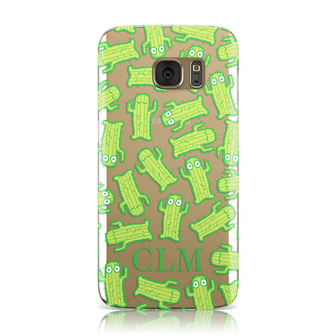Personalised Cactus Initials Samsung Galaxy Case