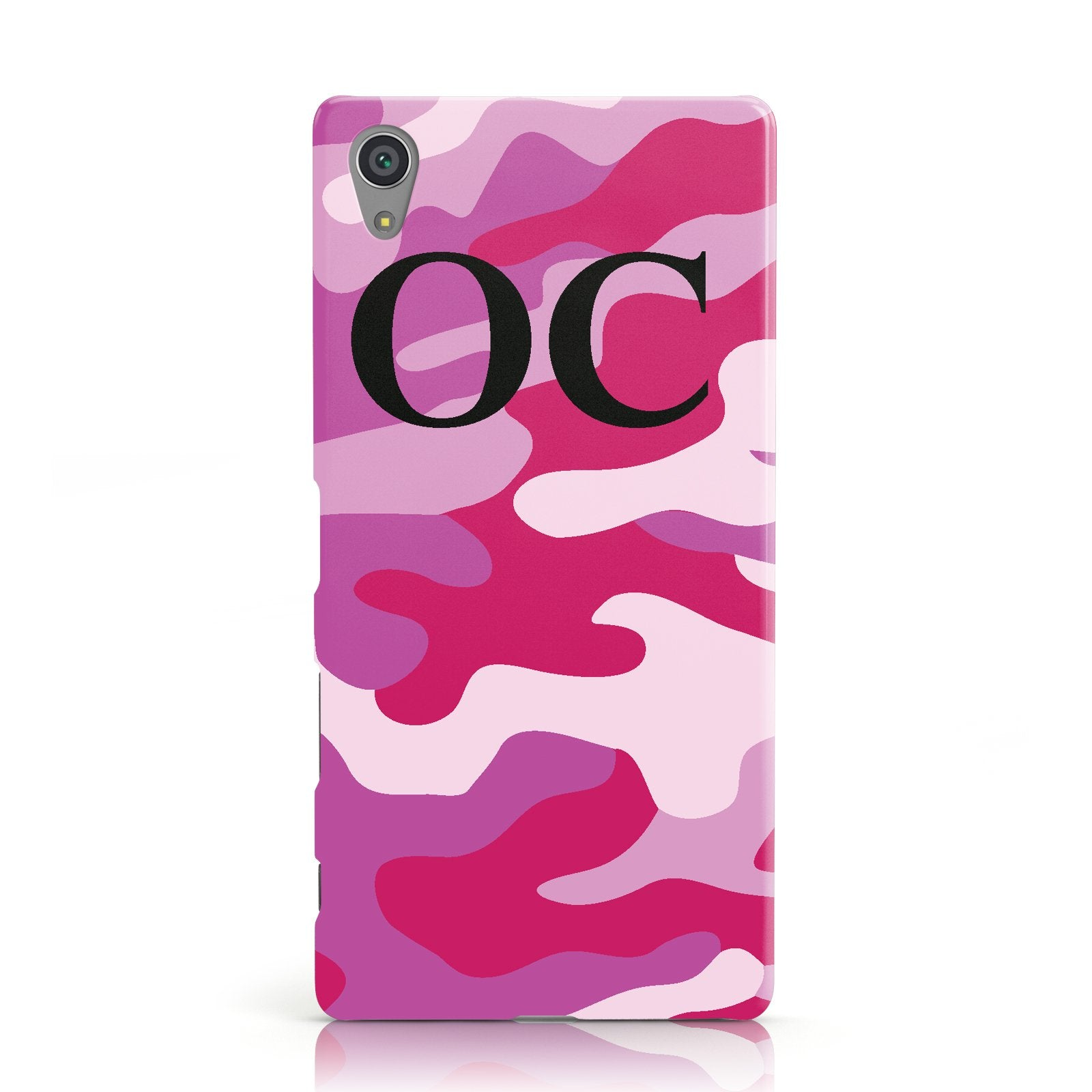 Camouflage Personalised Sony Xperia Case