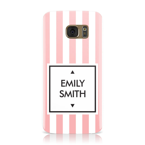 Personalised Candy Striped Name Initials Samsung Galaxy Case