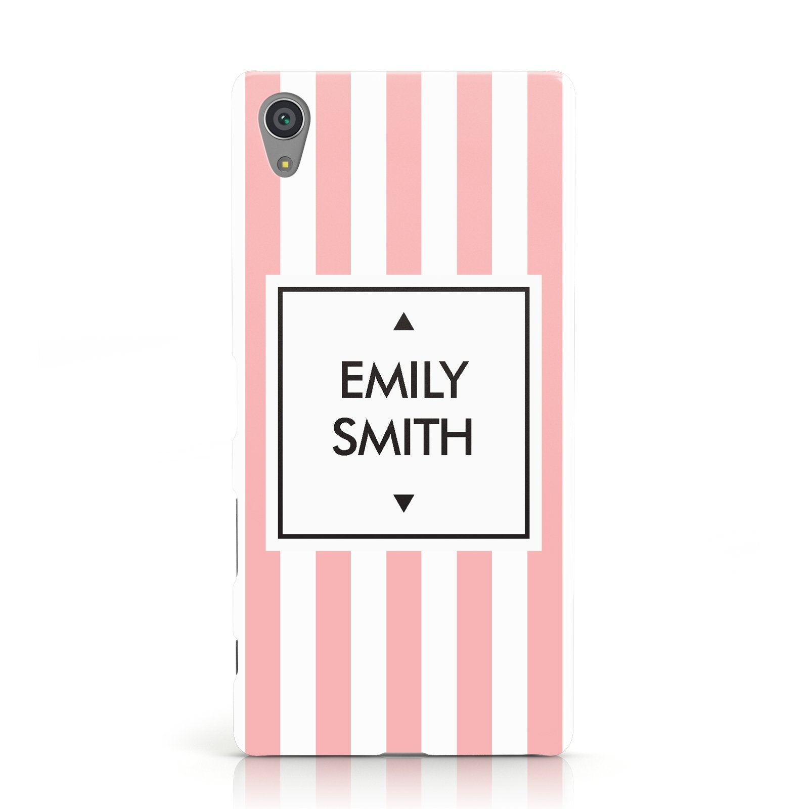 Personalised Candy Striped Name Initials Sony Xperia Case