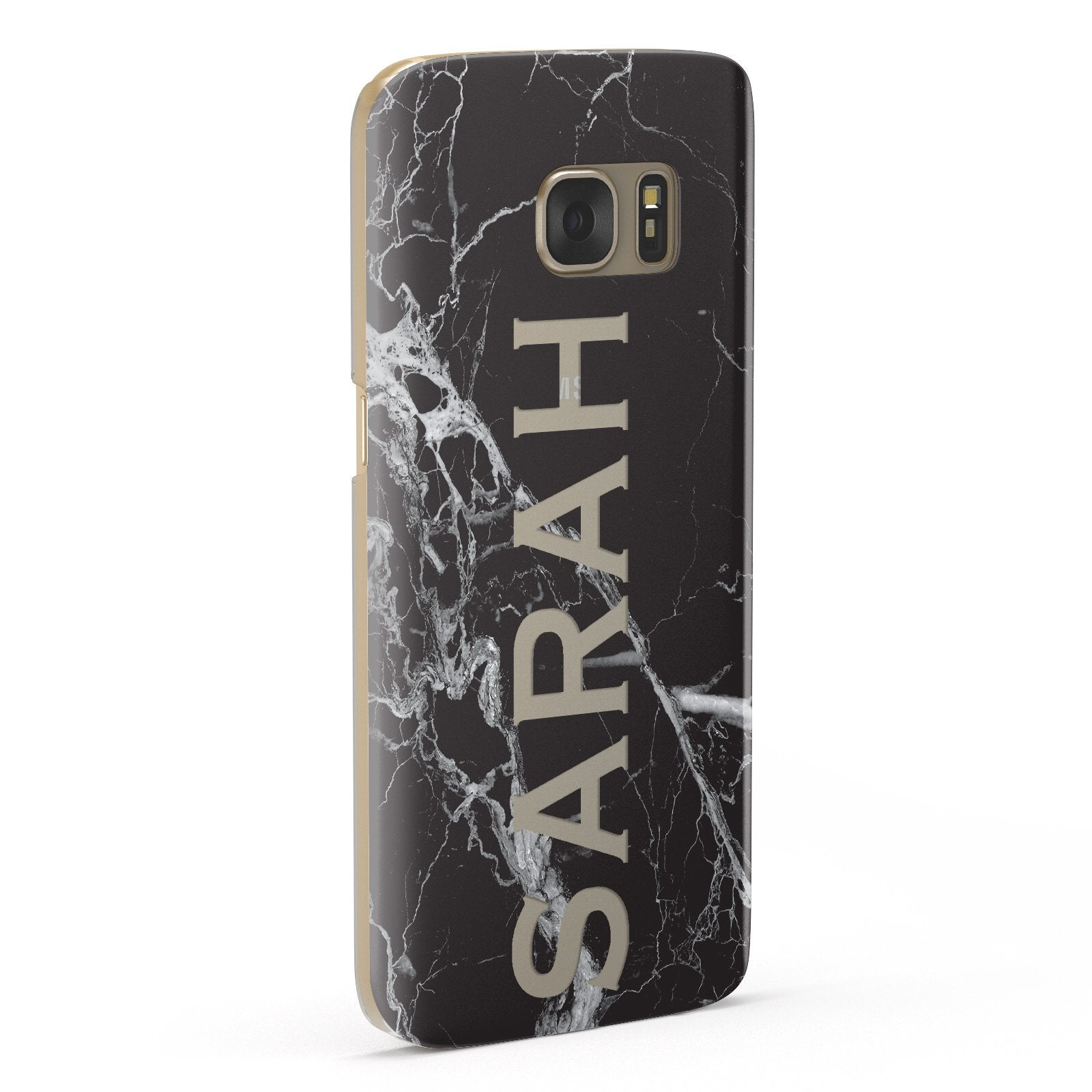Personalised Clear Name Cutout Black Marble Custom Samsung Galaxy Case Fourty Five Degrees