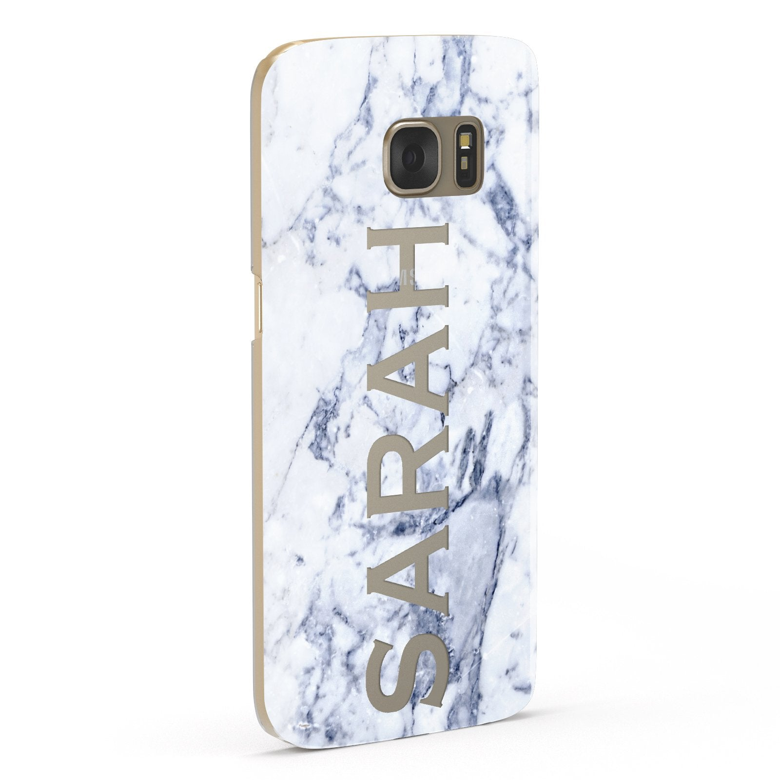 Personalised Clear Name Cutout Blue Marble Custom Samsung Galaxy Case Fourty Five Degrees