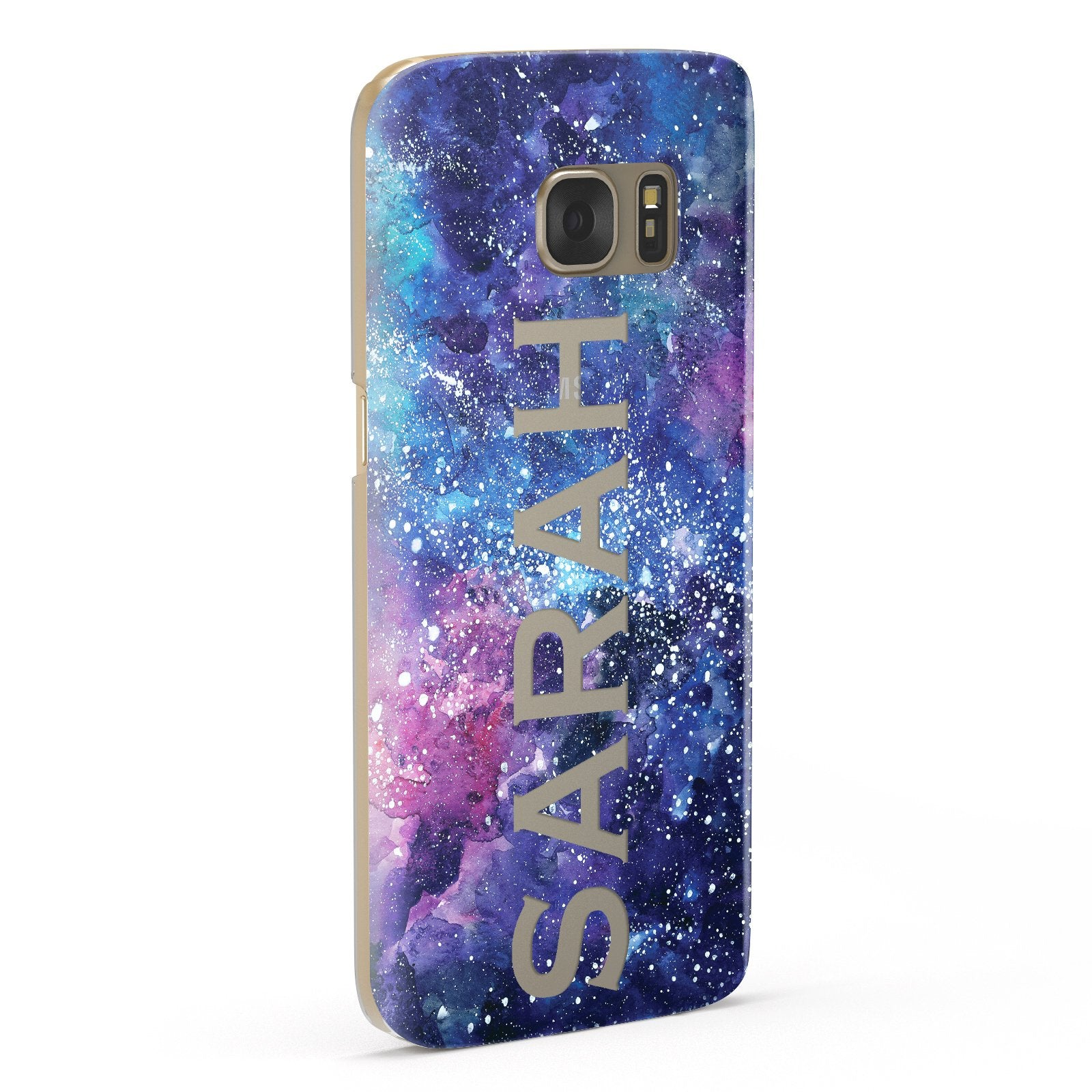 Personalised Clear Name Cutout Space Nebula Custom Samsung Galaxy Case Fourty Five Degrees