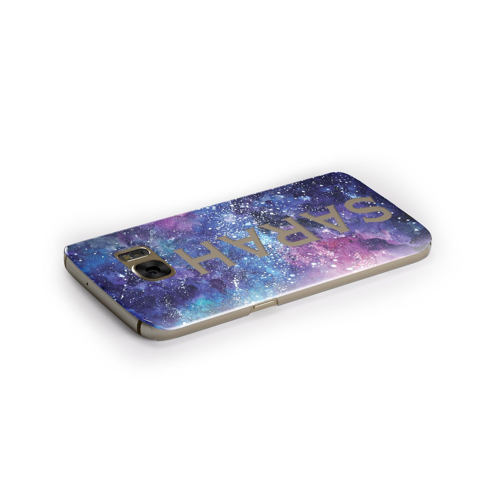 Personalised Clear Name Cutout Space Nebula Custom Samsung Galaxy Case Side Close Up