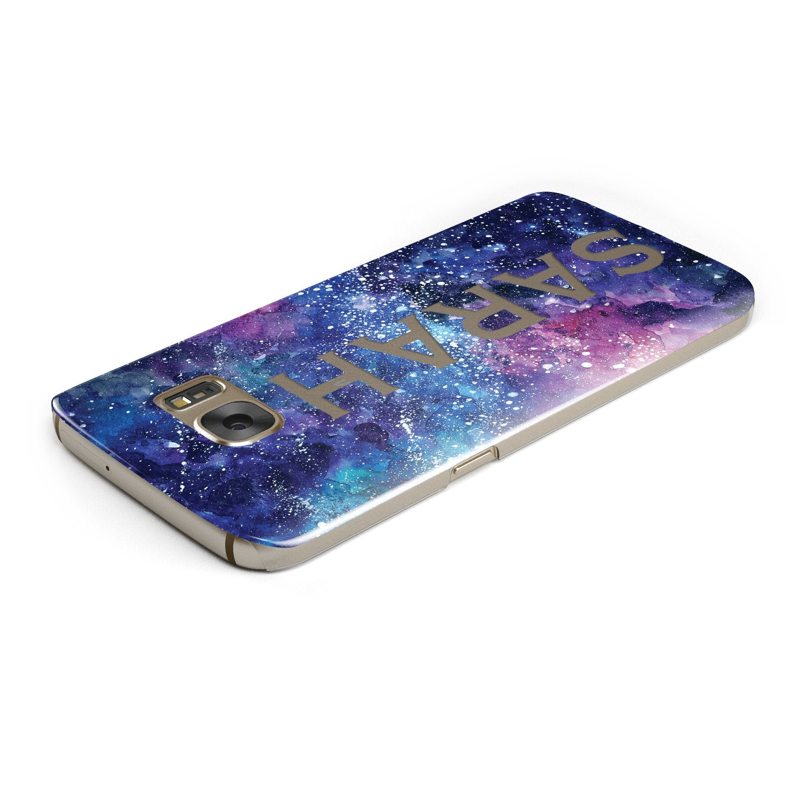 Personalised Clear Name Cutout Space Nebula Custom Samsung Galaxy Case Top Cutout
