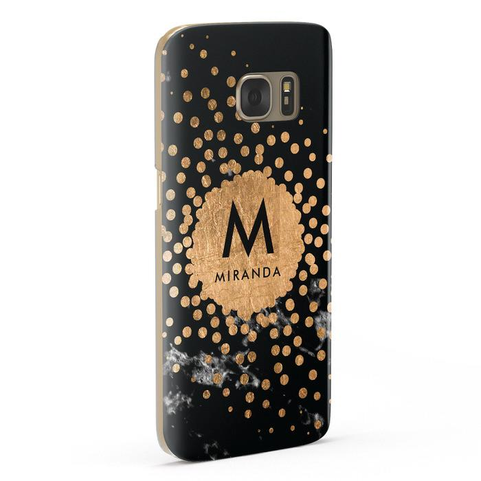 Personalised Copper Black Marble With Name Samsung Galaxy Case Fourty Five Degrees