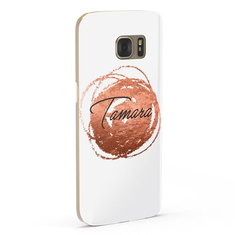 Personalised Copper Effect Custom Initials Samsung Galaxy Case Fourty Five Degrees