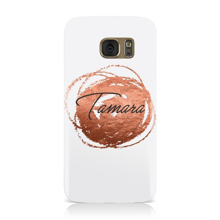 Personalised Copper Effect Custom Initials Samsung Galaxy Case