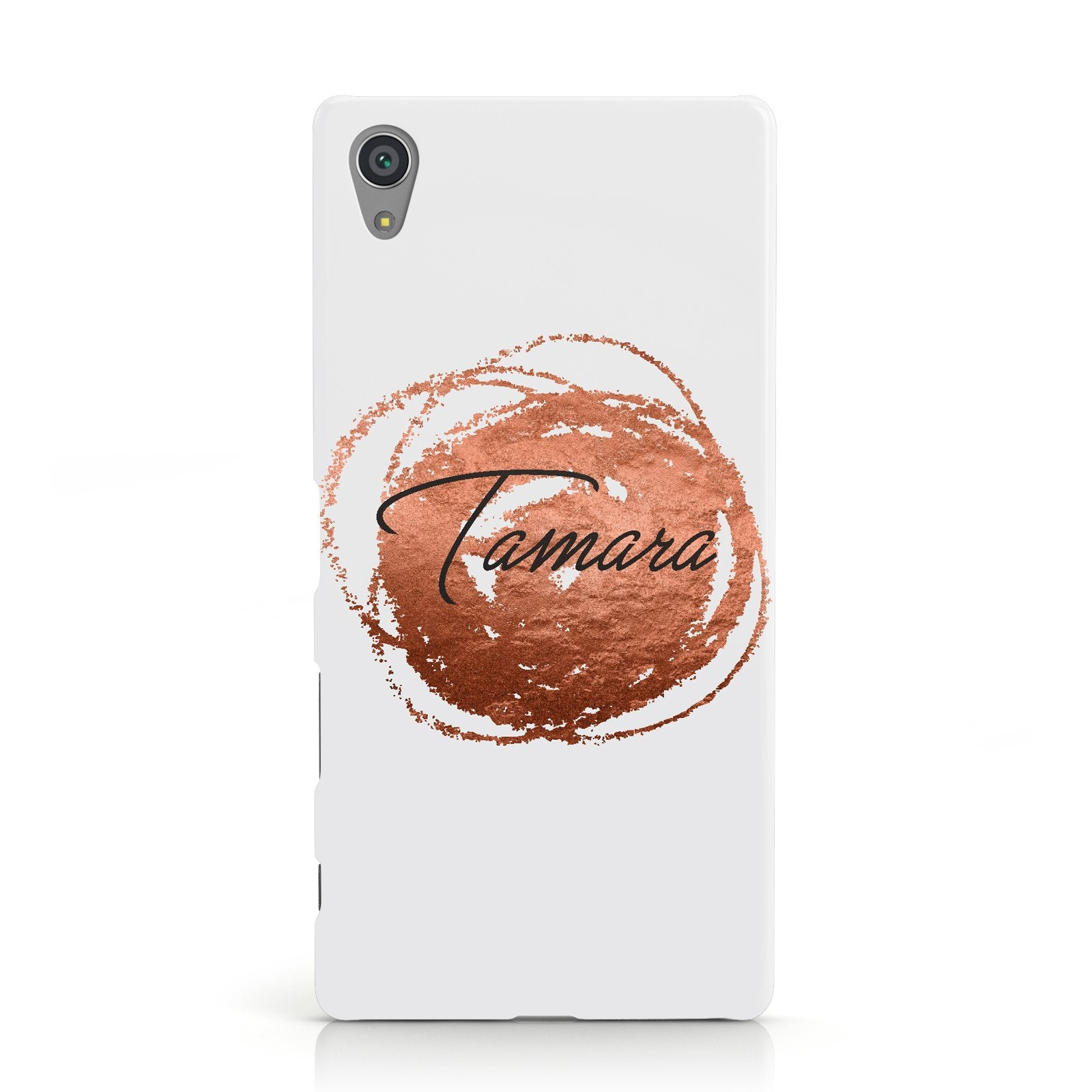 Personalised Copper Effect Custom Initials Sony Xperia Case