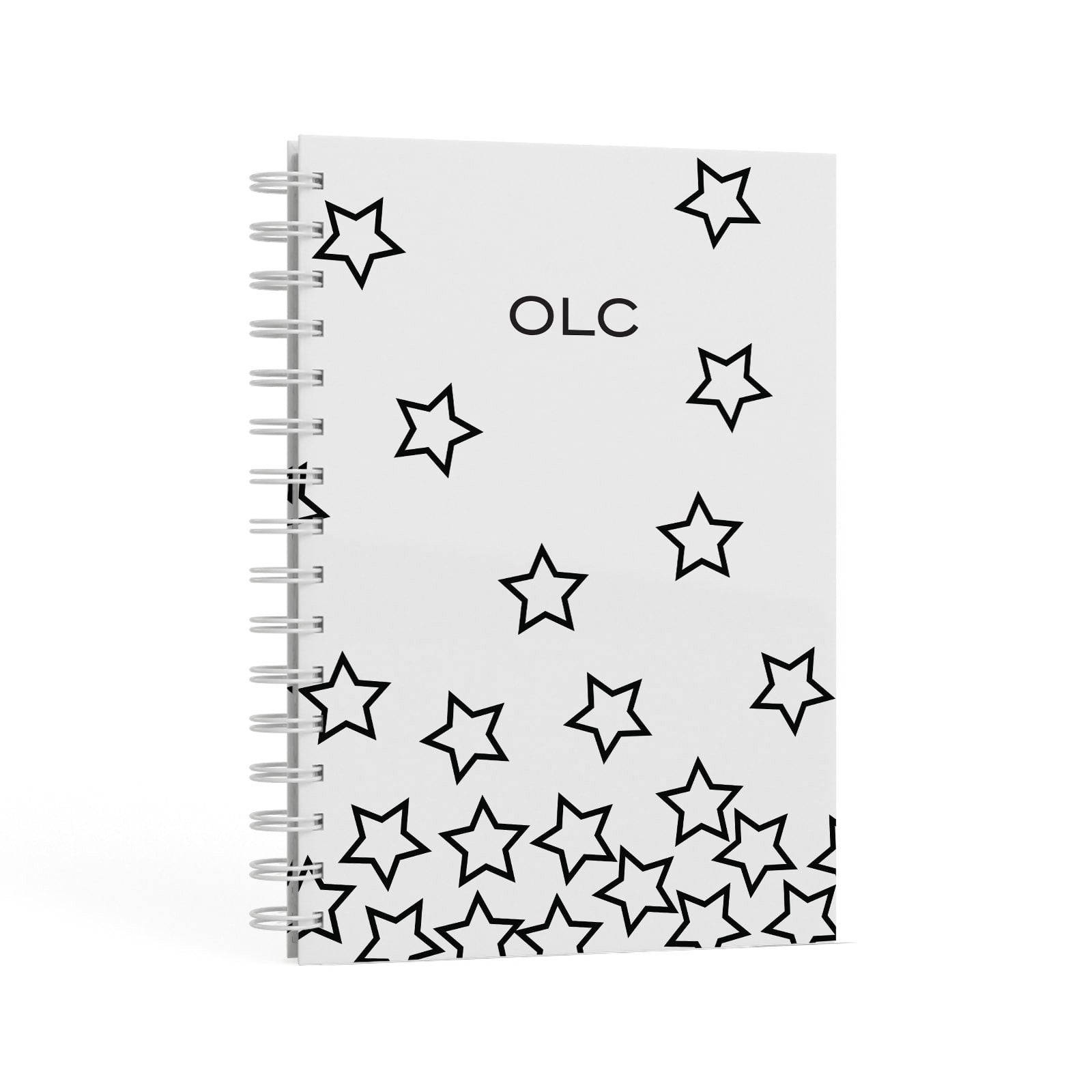Custom Personalised Initials A5 Hardcover Notebook Second Side View