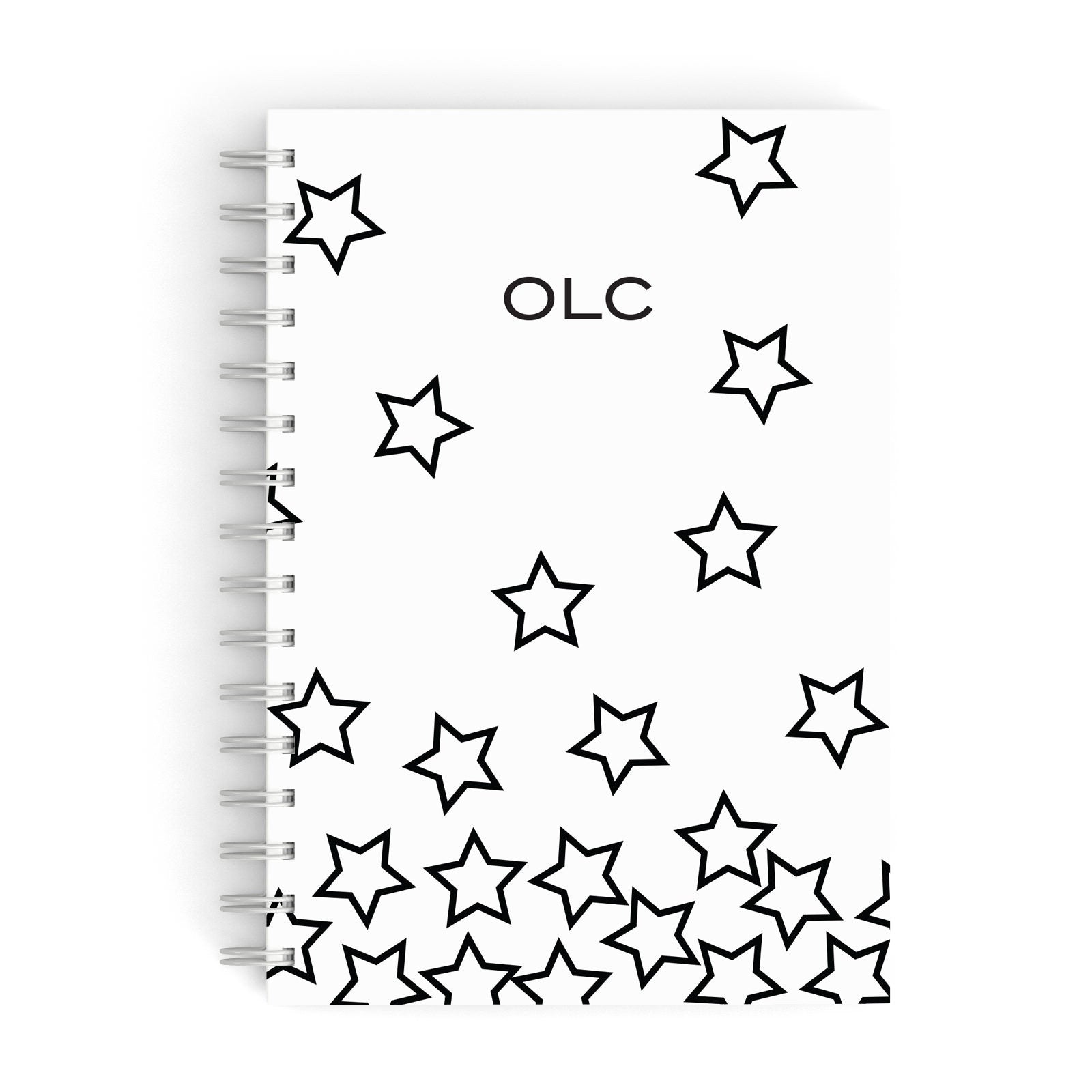 Custom Personalised Initials A5 Hardcover Notebook