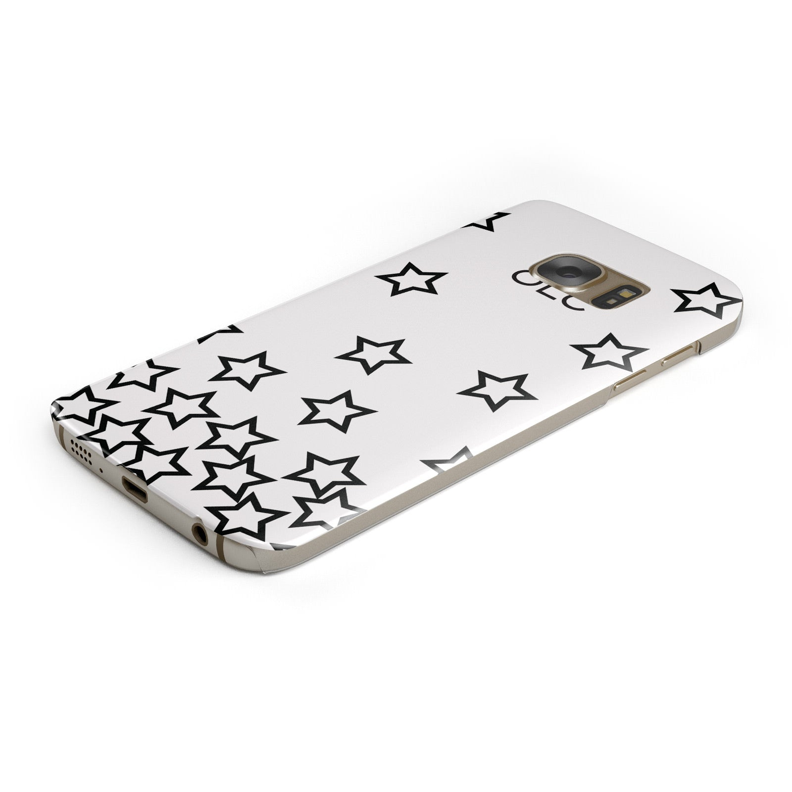 Custom Personalised Initials Samsung Galaxy Case Bottom Cutout