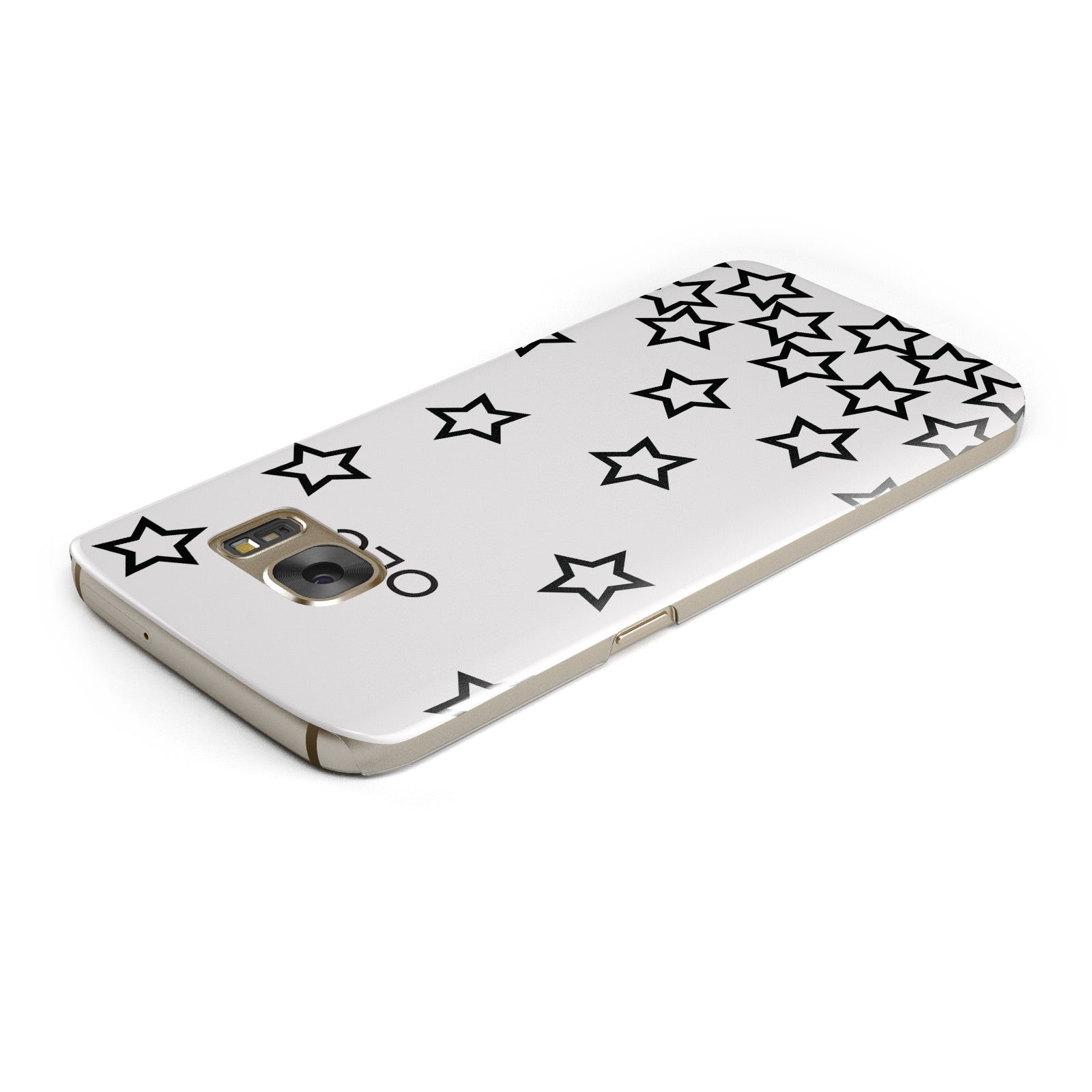 Custom Personalised Initials Samsung Galaxy Case Top Cutout