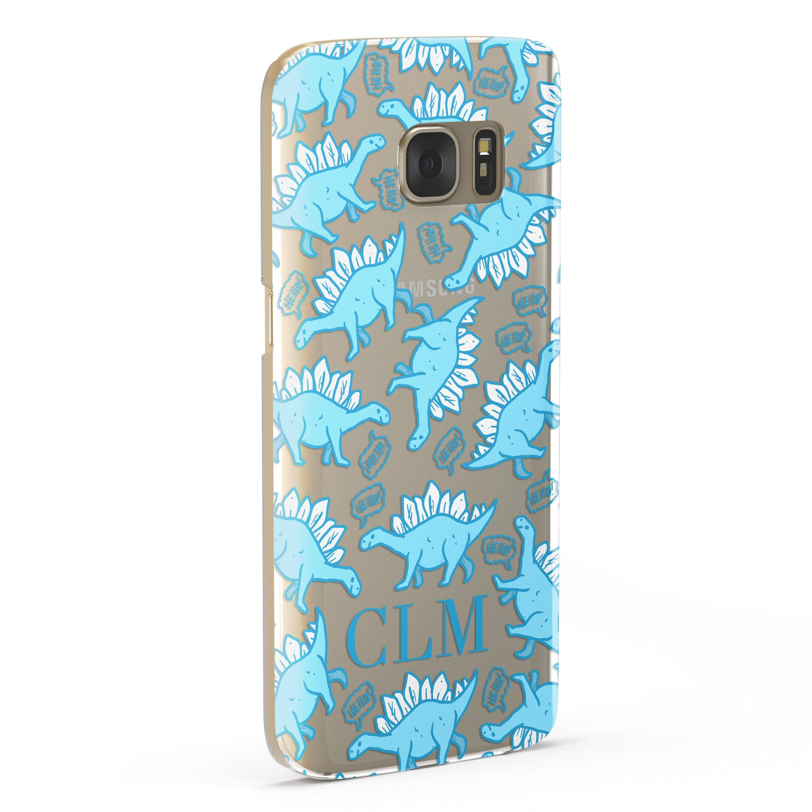 Personalised Dinosaur Initials Samsung Galaxy Case Fourty Five Degrees