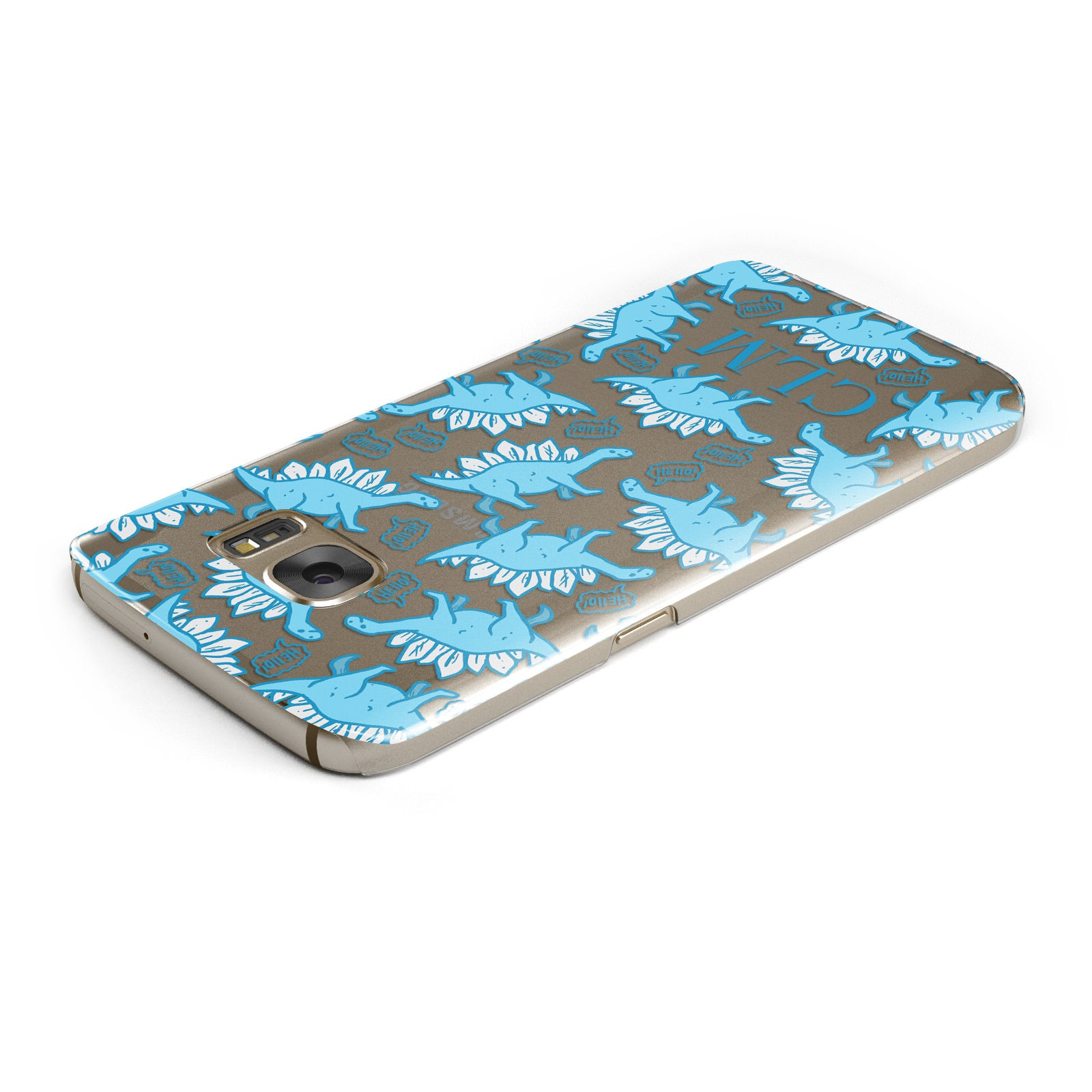 Personalised Dinosaur Initials Samsung Galaxy Case Top Cutout