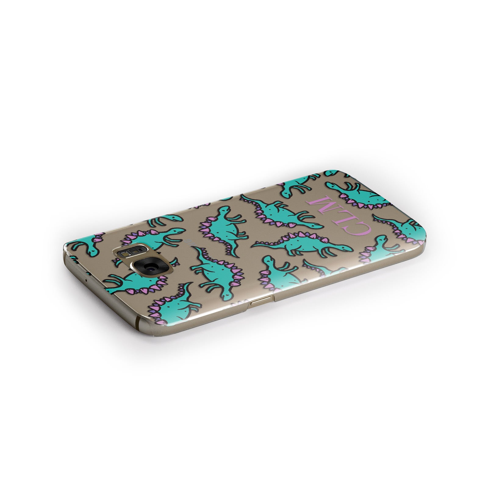 Personalised Dinosaur Monogrammed Samsung Galaxy Case Side Close Up