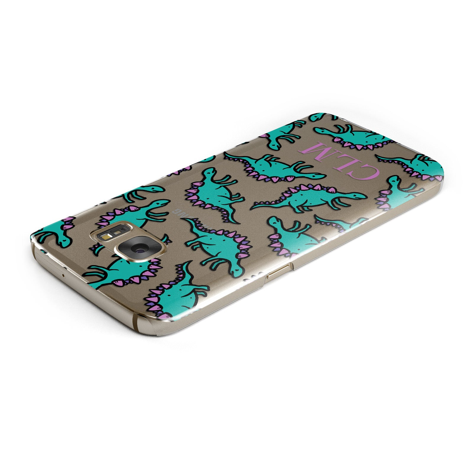 Personalised Dinosaur Monogrammed Samsung Galaxy Case Top Cutout