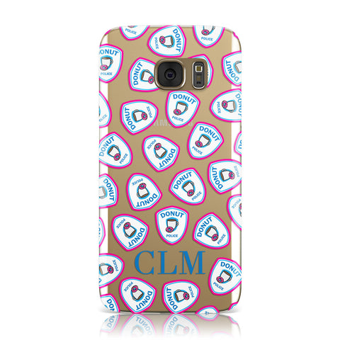 Personalised Donut Police Initials Samsung Galaxy Case