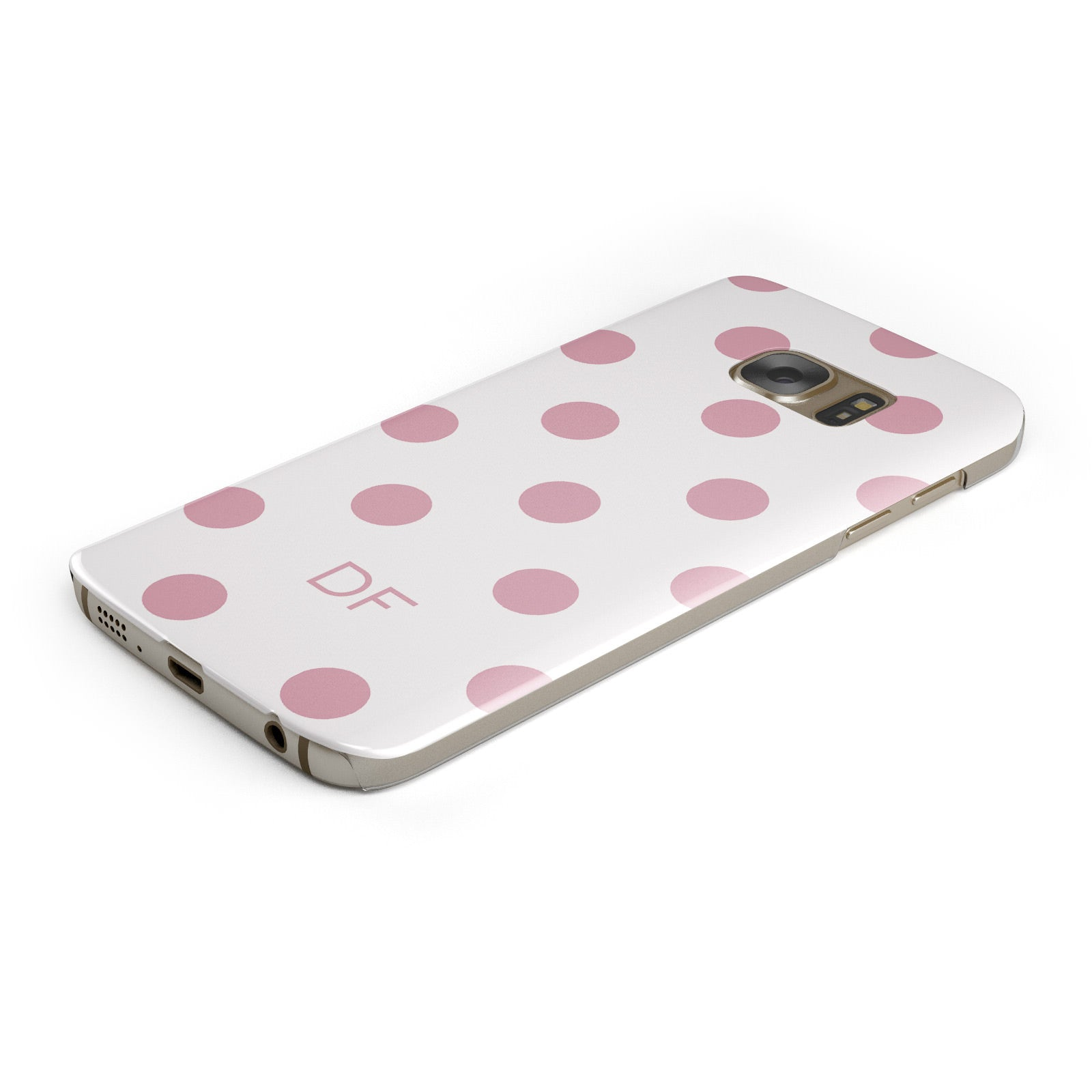Dots Initials Personalised Samsung Galaxy Case Bottom Cutout