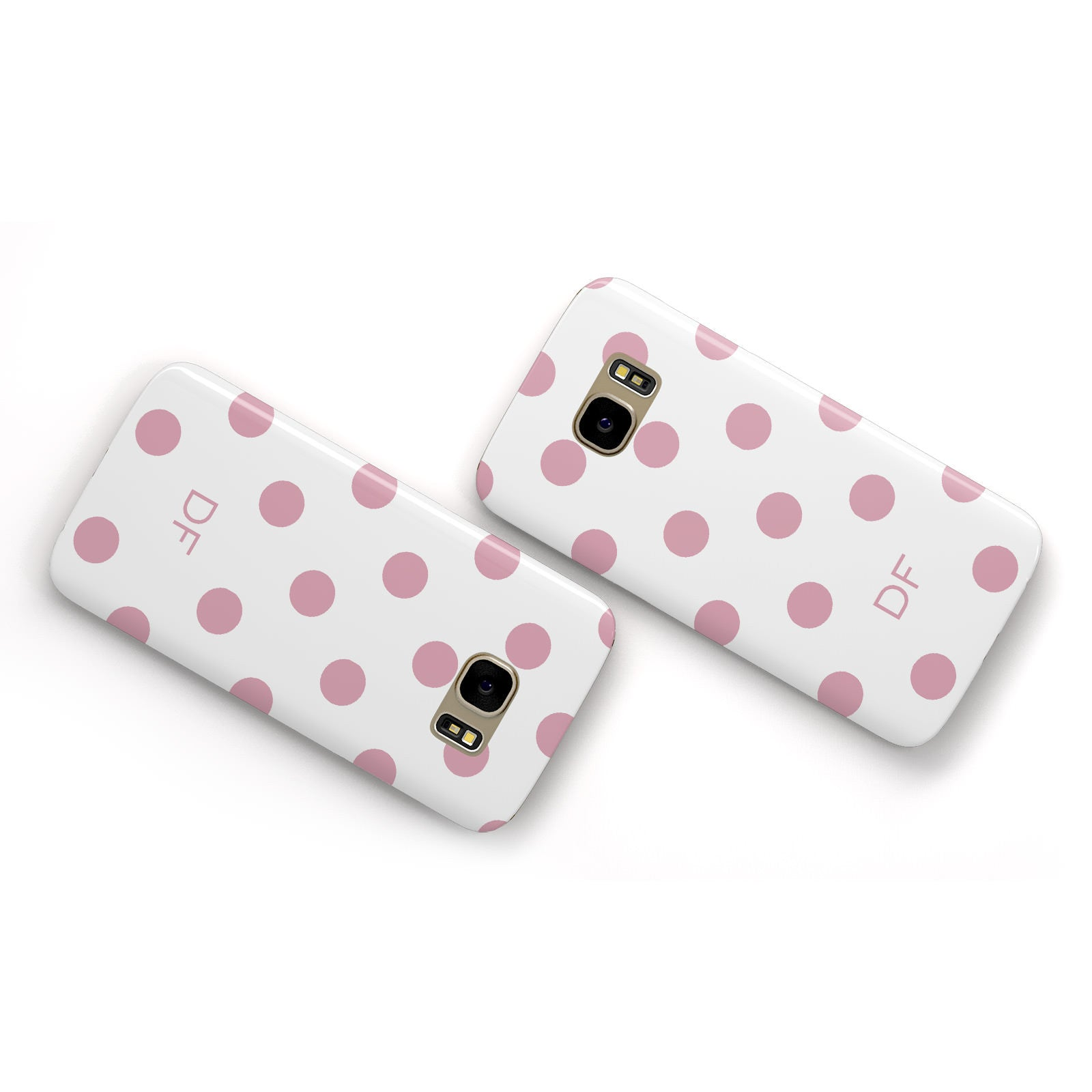 Dots Initials Personalised Samsung Galaxy Case Flat Overview