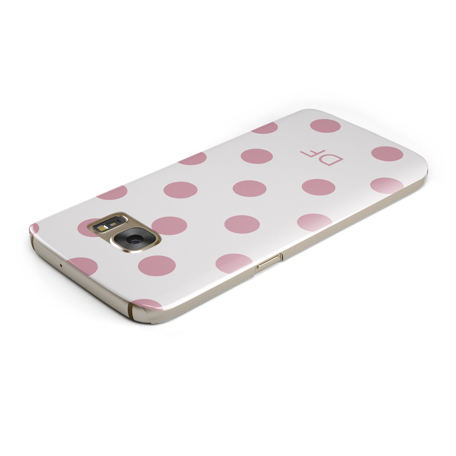 Dots Initials Personalised Samsung Galaxy Case Top Cutout