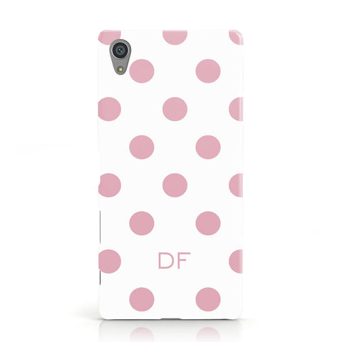 Dots Initials Personalised Sony Xperia Case