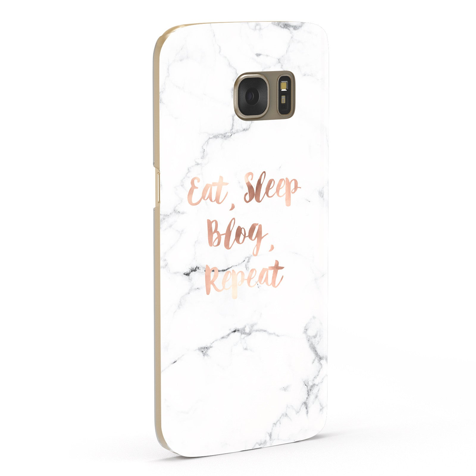 Eat Sleep Blog Repeat Marble Effect Samsung Galaxy Case Fourty Five Degrees