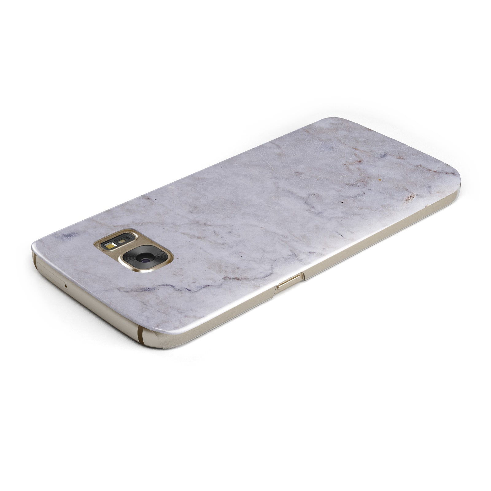 Faux Carrara Marble Print Grey Samsung Galaxy Case Top Cutout