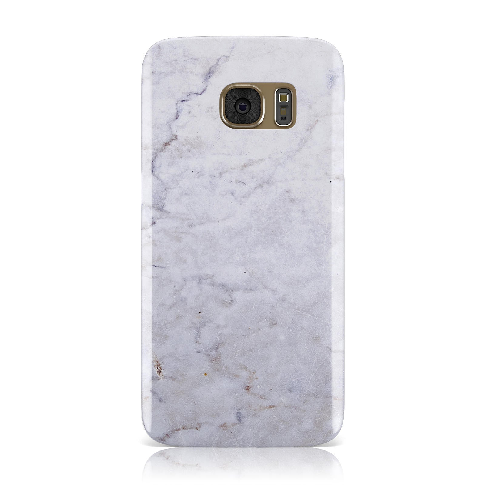 Faux Carrara Marble Print Grey Samsung Galaxy Case