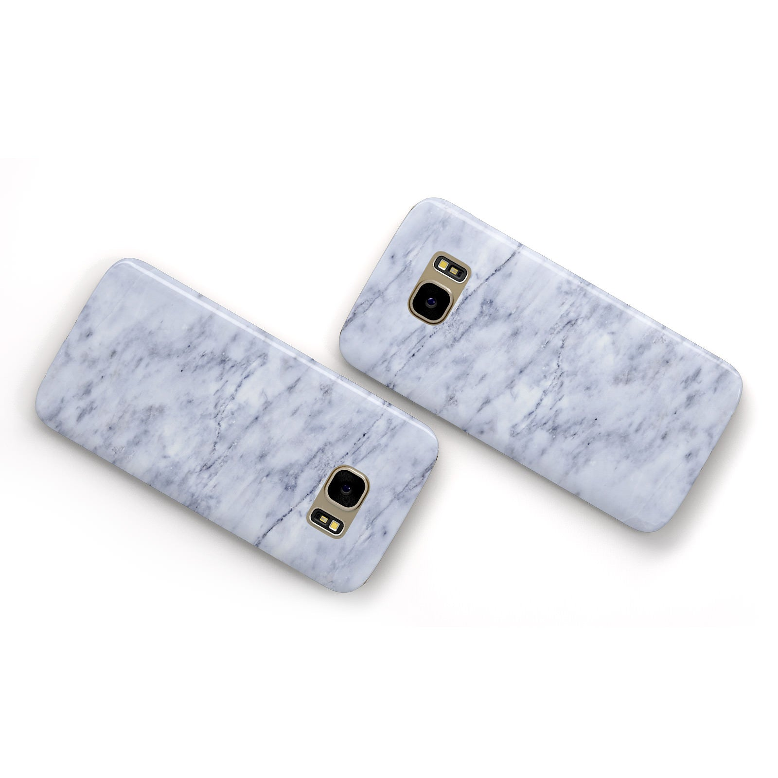 Faux Carrara Marble Print Samsung Galaxy Case Flat Overview