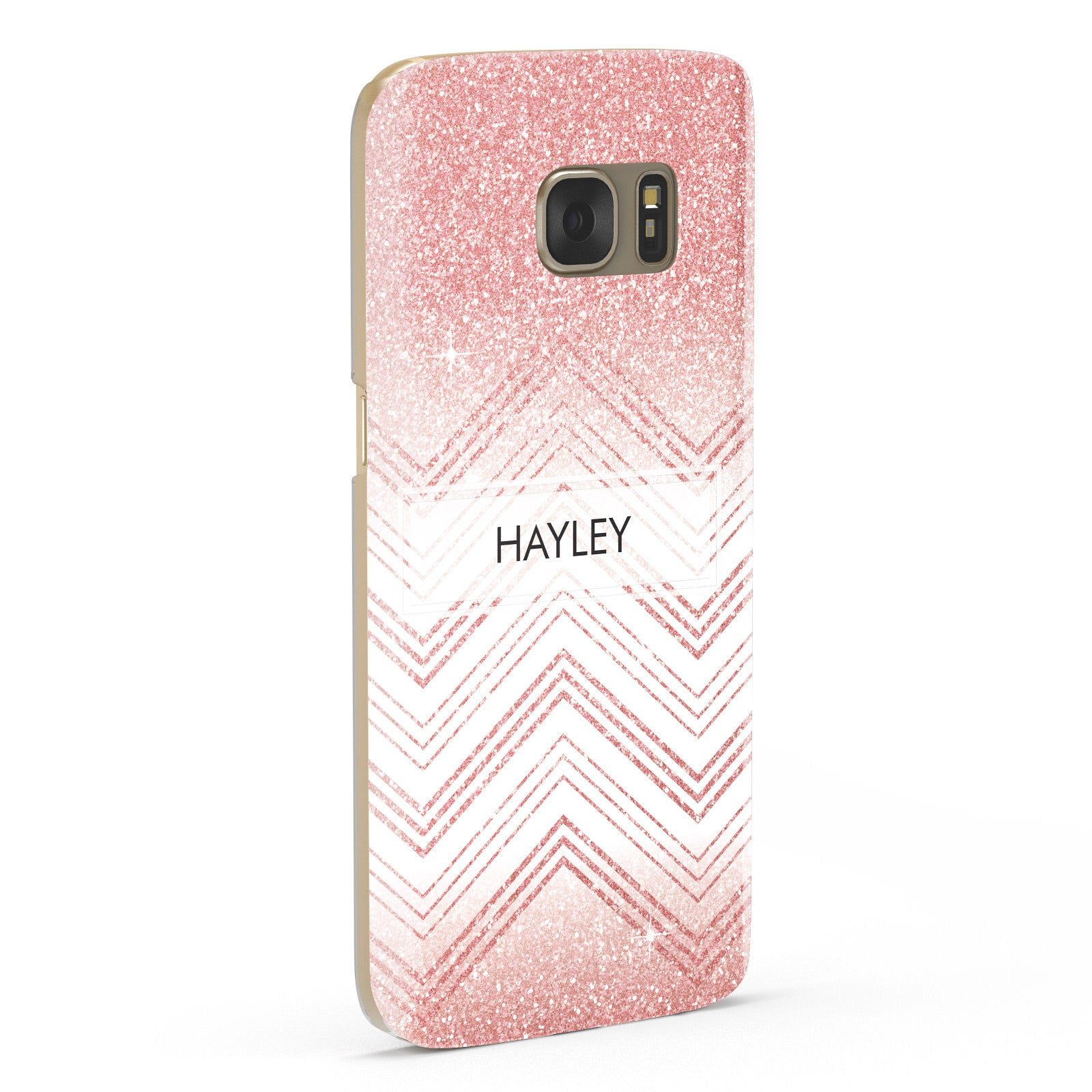 Personalised Faux Glitter Effect Name Initials Samsung Galaxy Case Fourty Five Degrees