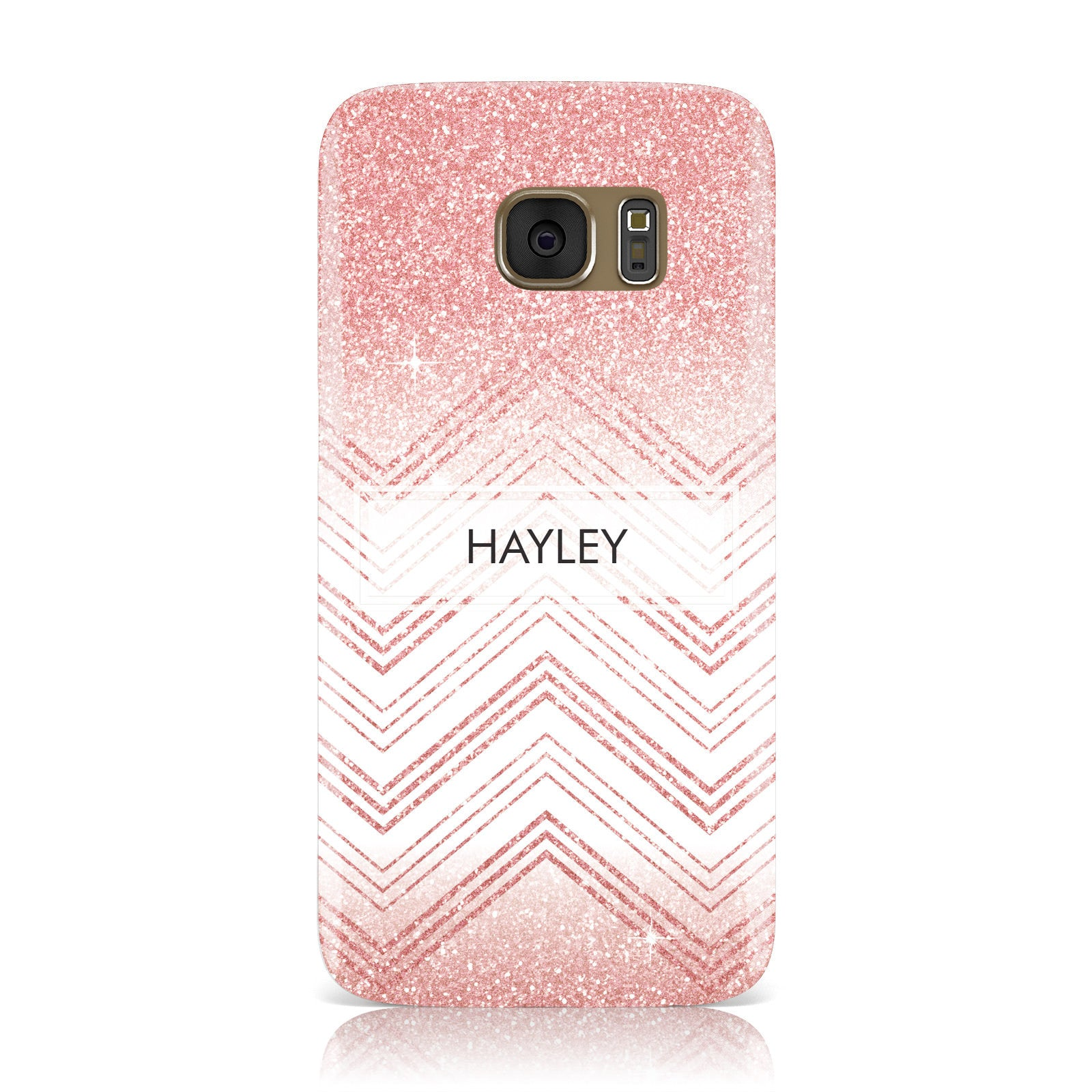 Personalised Faux Glitter Effect Name Initials Samsung Galaxy Case