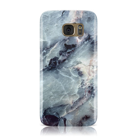 Faux Marble Blue Grey Samsung Galaxy Case