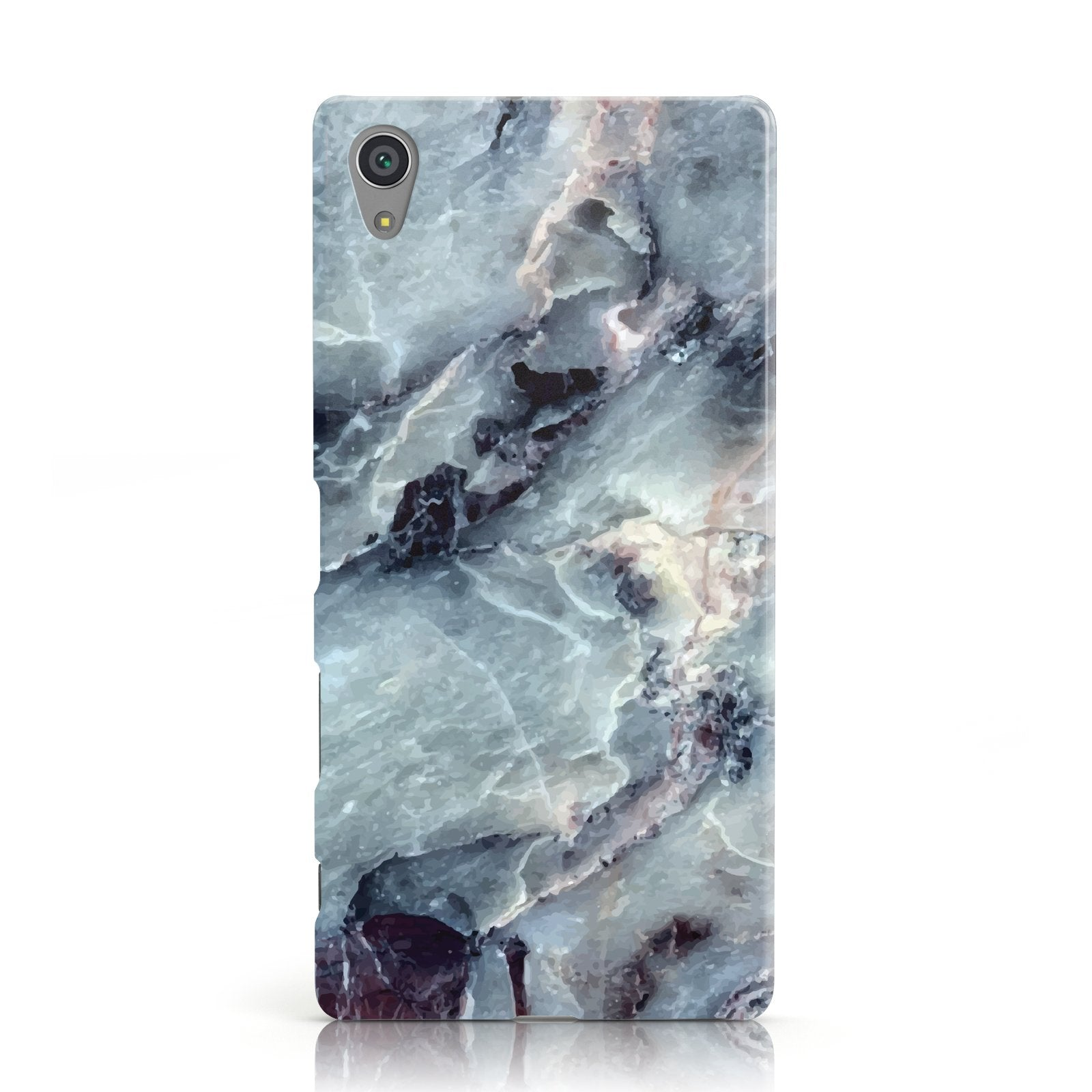 Faux Marble Blue Grey Sony Xperia Case