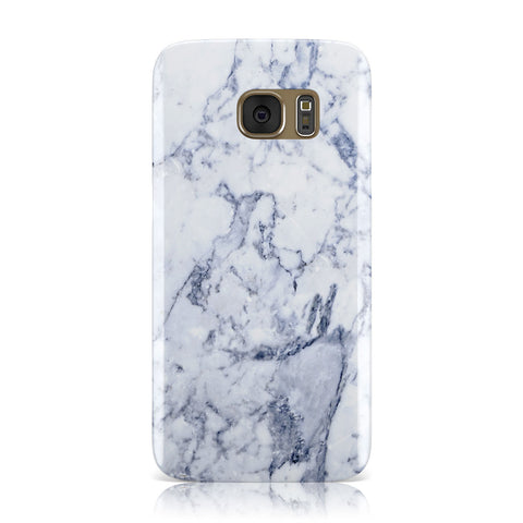 Faux Marble Blue Grey White Samsung Galaxy Case