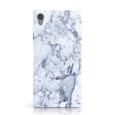 Faux Marble Blue Grey White Sony Xperia Case