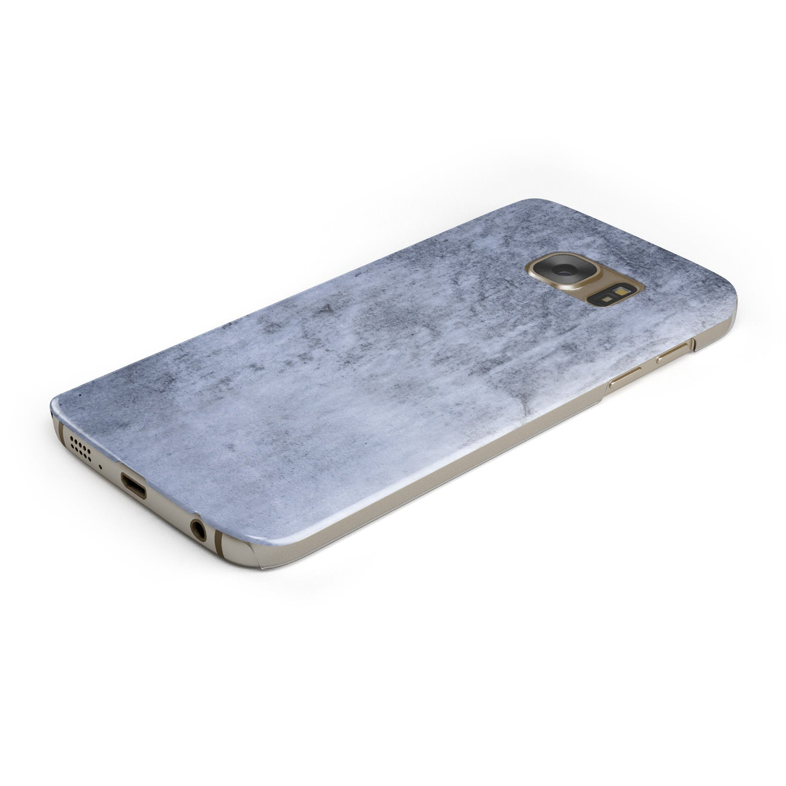 Faux Marble Dark Grey Samsung Galaxy Case Bottom Cutout