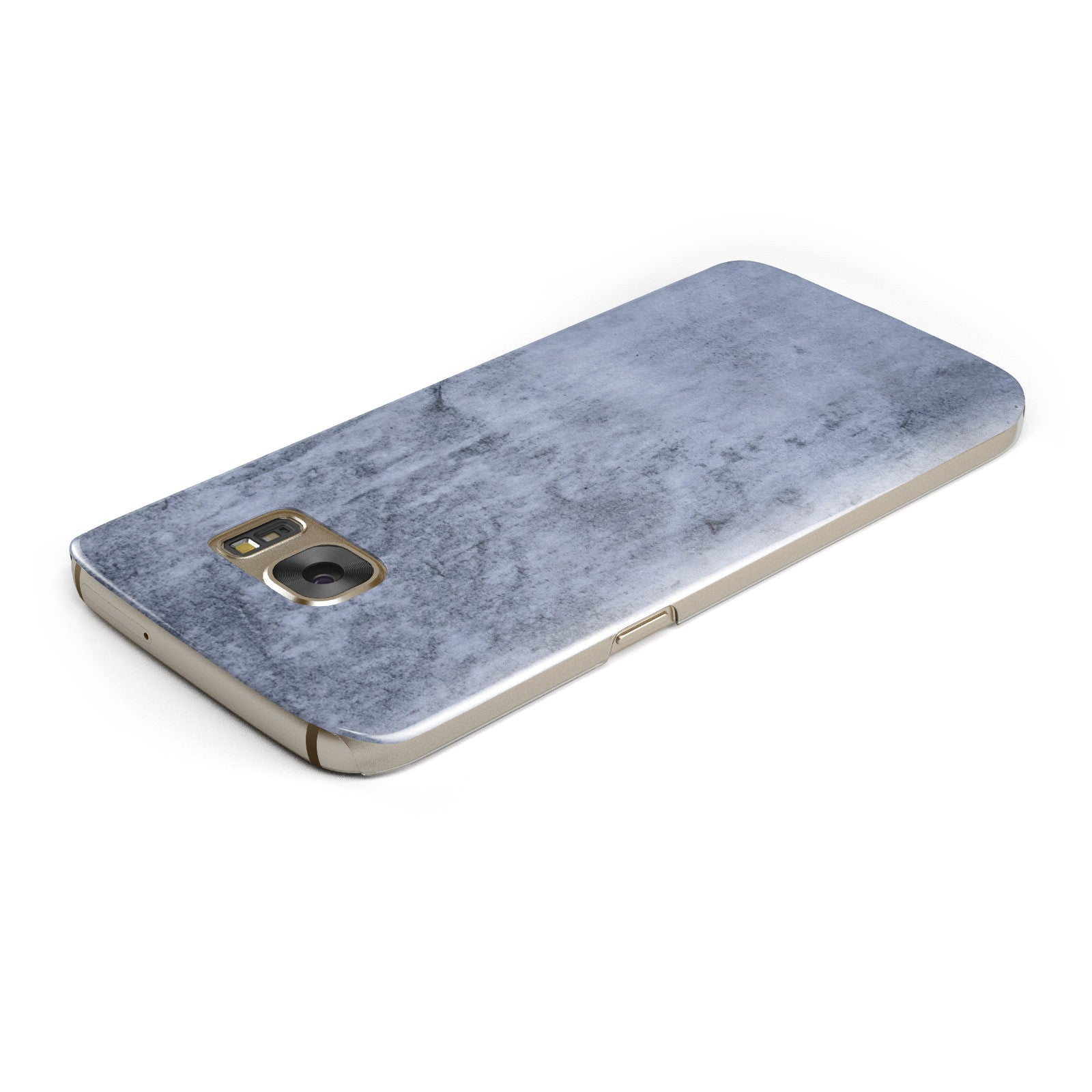 Faux Marble Dark Grey Samsung Galaxy Case Top Cutout
