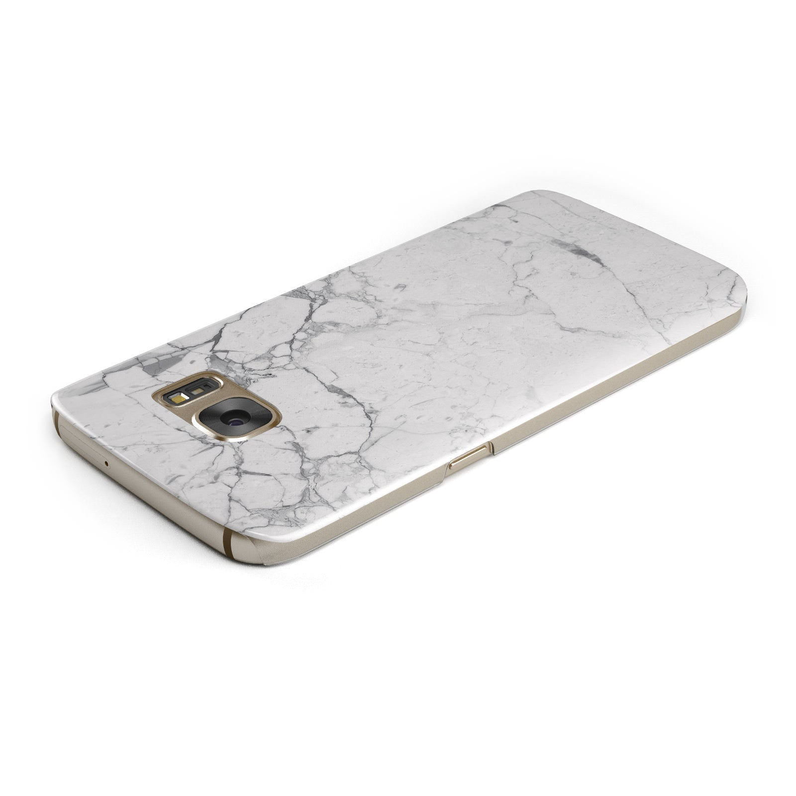 Faux Marble Effect Grey White Samsung Galaxy Case Top Cutout
