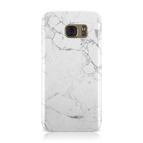 Faux Marble Effect Grey White Samsung Galaxy Case